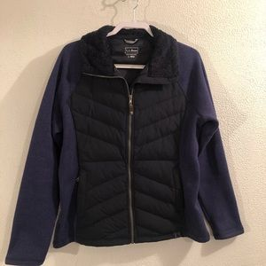 LL Bean women's downtek jacket size L Reg